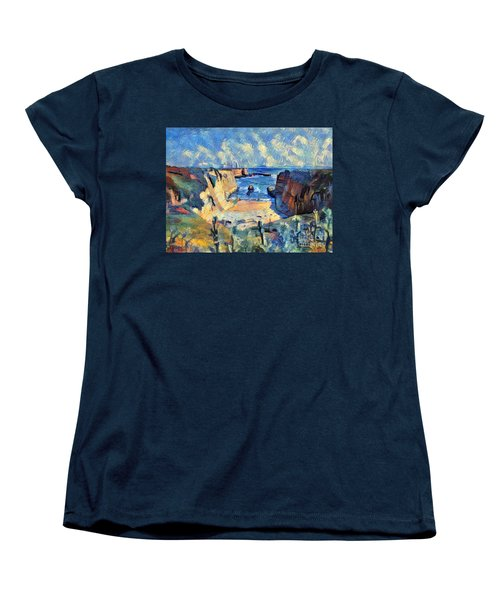 Women's T-Shirt (Standard Cut) featuring the painting Wilder Ranch Trail by Denise Deiloh
