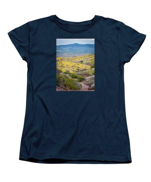 Wildflower Meadows Women's T-Shirt (Standard Cut) by Karen Stephenson