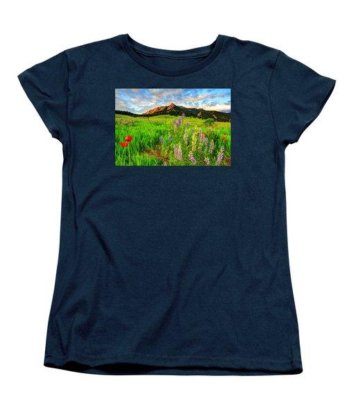 Wildflower Mix Women's T-Shirt (Standard Cut) by Scott Mahon