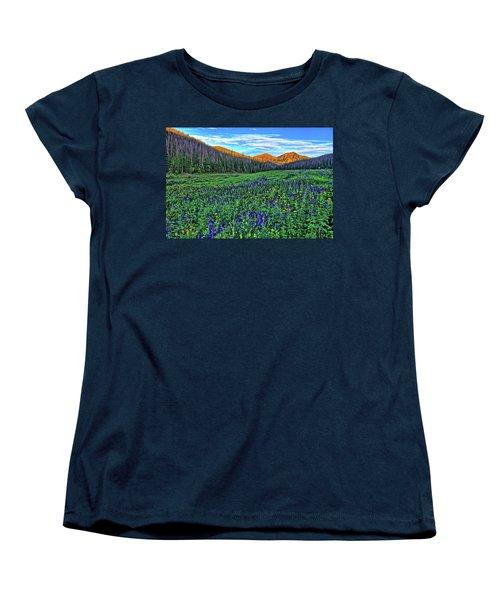 Women's T-Shirt (Standard Cut) featuring the photograph Wildflower Park by Scott Mahon