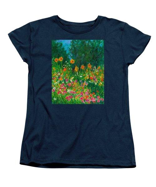Wildflower Rush Women's T-Shirt (Standard Cut) by Kendall Kessler
