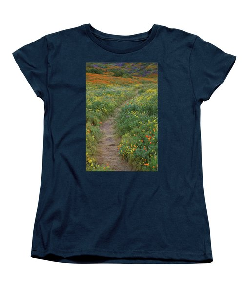 Women's T-Shirt (Standard Cut) featuring the photograph Wildflower Trail At Diamond Lake In California by Jetson Nguyen