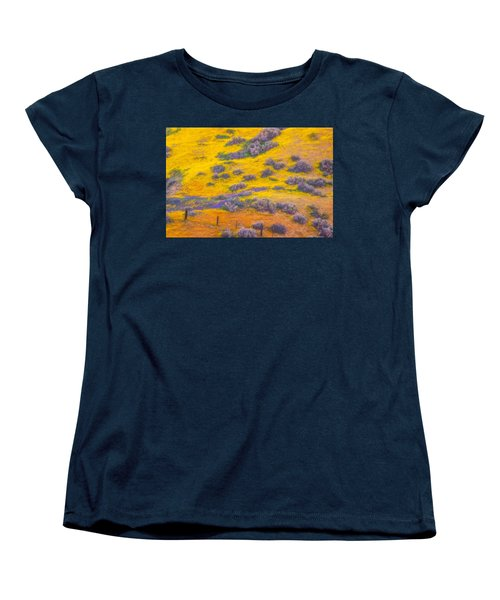Wildflowers And Fence Women's T-Shirt (Standard Cut) by Marc Crumpler