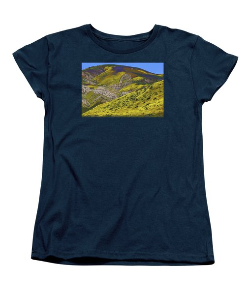 Wildflowers Galore At Carrizo Plain National Monument In California Women's T-Shirt (Standard Cut) by Jetson Nguyen