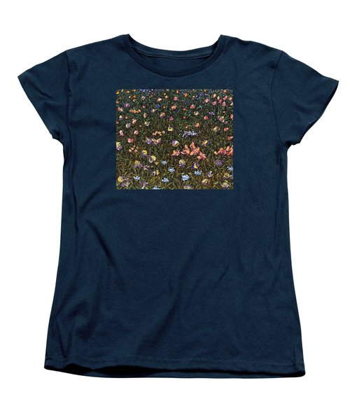 Women's T-Shirt (Standard Cut) featuring the painting Wildflowers by James W Johnson