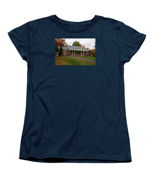 Women's T-Shirt (Standard Cut) featuring the photograph Wildwood Manor House In The Fall by Michiale Schneider