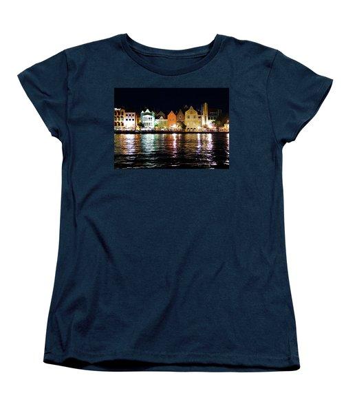 Women's T-Shirt (Standard Cut) featuring the photograph Willemstad, Island Of Curacoa by Kurt Van Wagner
