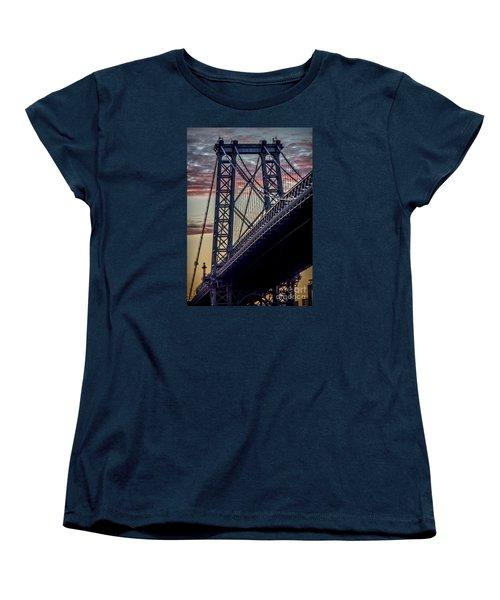 Williamsburg Bridge Structure Women's T-Shirt (Standard Cut) by James Aiken