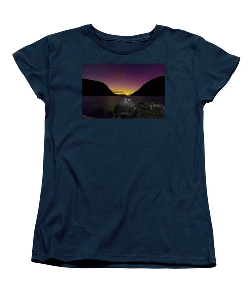 Willoughby Aurora And Boulder Women's T-Shirt (Standard Cut) by Tim Kirchoff