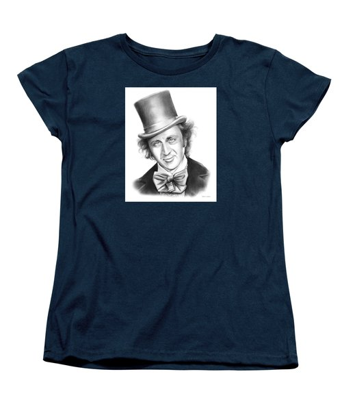 Willy Wonka Women's T-Shirt (Standard Cut) by Greg Joens