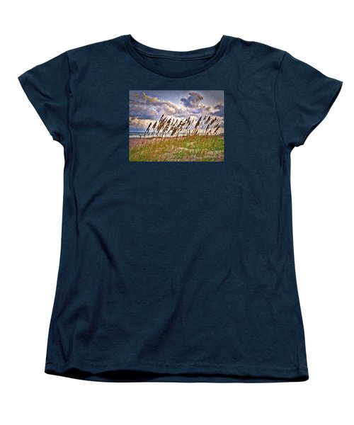 Women's T-Shirt (Standard Cut) featuring the photograph Wind And Waves  ... by Chuck Caramella