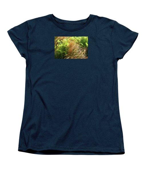 Windblown Grasses Women's T-Shirt (Standard Cut) by Nareeta Martin