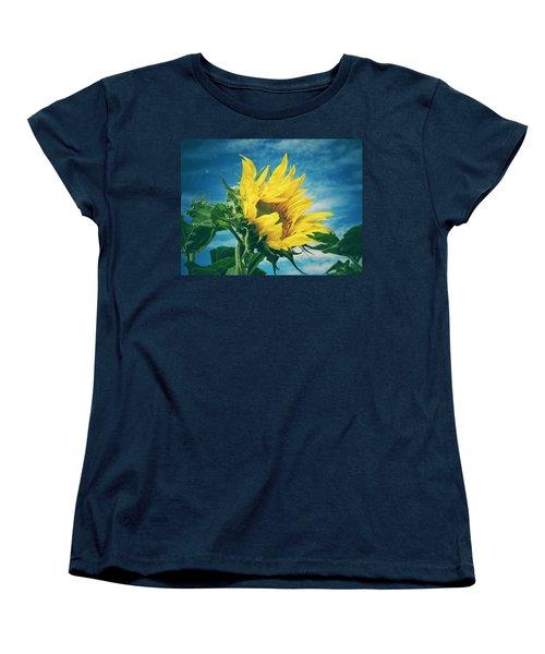 Women's T-Shirt (Standard Cut) featuring the photograph Windblown  by Karen Stahlros