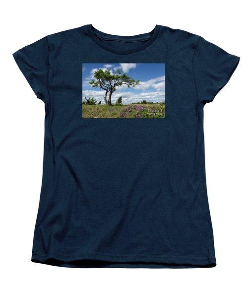 Windblown Women's T-Shirt (Standard Cut) by Kennerth and Birgitta Kullman