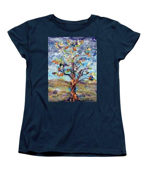 Windbreak Women's T-Shirt (Standard Cut) by Regina Valluzzi