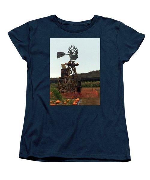 Windmill Women's T-Shirt (Standard Cut) by Enzie Shahmiri