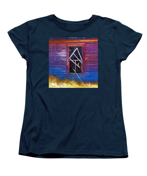 Women's T-Shirt (Standard Cut) featuring the photograph Window-1 by Susan Kinney