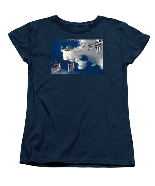 Windows And The Sky Women's T-Shirt (Standard Cut) by Christopher Woods