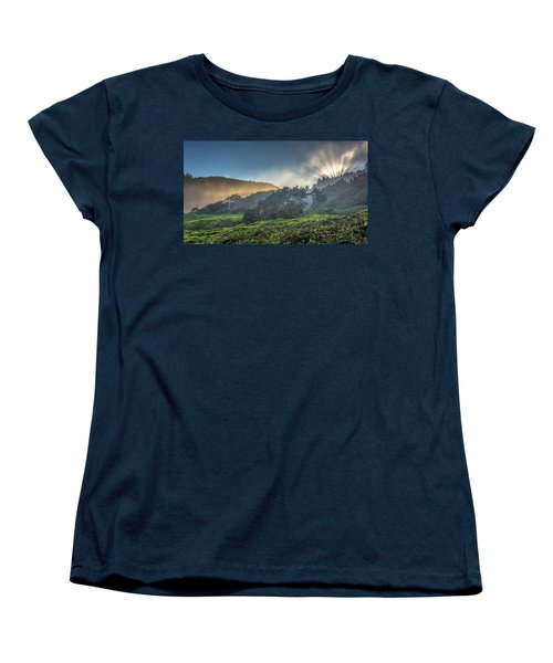 Women's T-Shirt (Standard Cut) featuring the photograph Windswept Trees On The Oregon Coast by Pierre Leclerc Photography