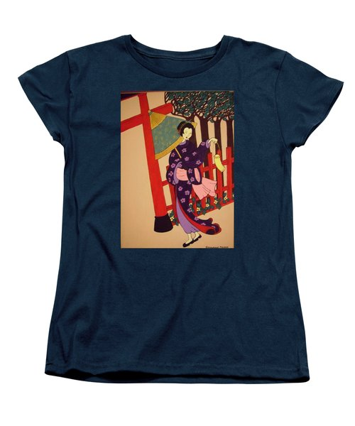 Women's T-Shirt (Standard Cut) featuring the painting Windy Day by Stephanie Moore