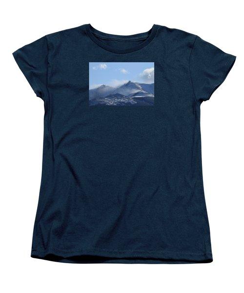 Windy Pikes Peak  Women's T-Shirt (Standard Cut) by Christopher Kirby