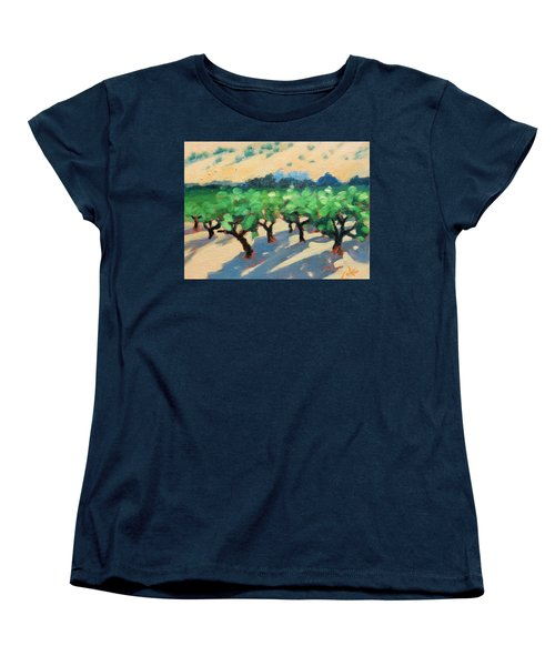 Women's T-Shirt (Standard Cut) featuring the painting Wine Habitat by Gary Coleman