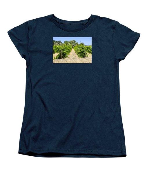Wine On The Vine Women's T-Shirt (Standard Cut) by Chris Smith