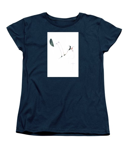 Women's T-Shirt (Standard Cut) featuring the drawing Wings by James Lanigan Thompson MFA