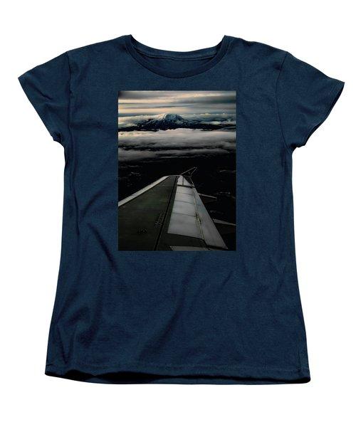 Wings Over Rainier Women's T-Shirt (Standard Cut) by Jeffrey Jensen