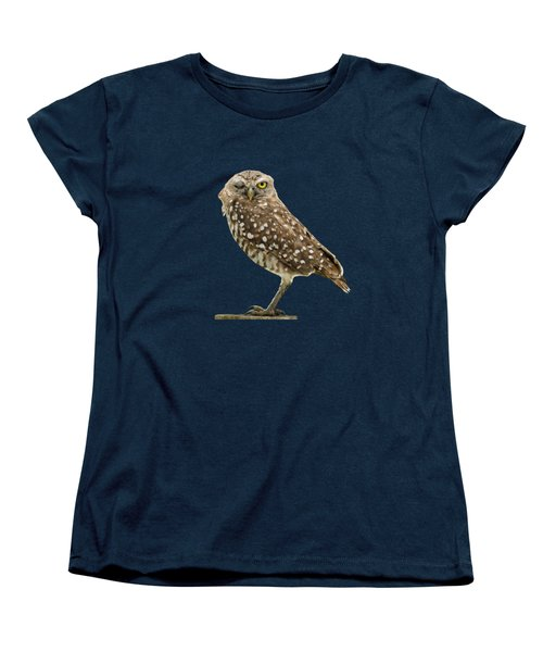 Winking Owl Women's T-Shirt (Standard Cut) by Bradford Martin