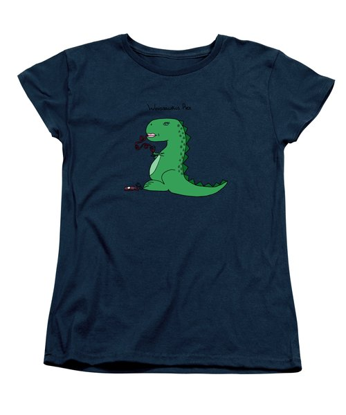 Winosaurus Rex Women's T-Shirt (Standard Cut) by Tamera Dion