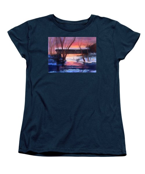 Winter At Bennett's Mill Women's T-Shirt (Standard Cut) by Gail Kirtz