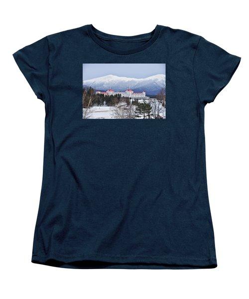 Winter At The Mt Washington Hotel Women's T-Shirt (Standard Cut) by Tricia Marchlik