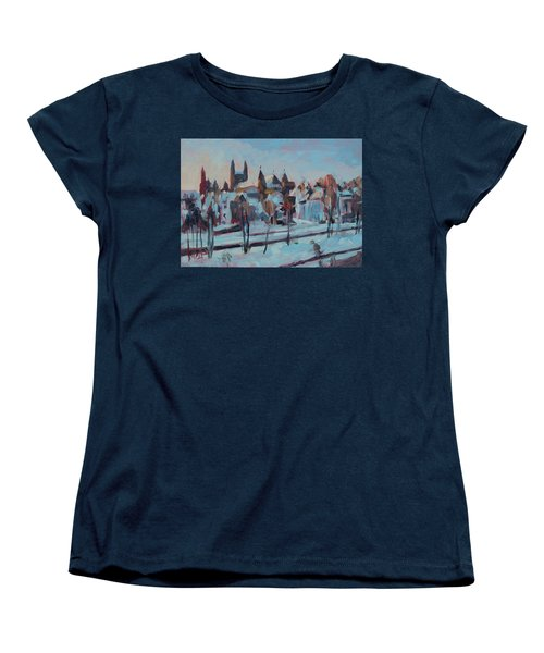 Winter Basilica Our Lady Maastricht Women's T-Shirt (Standard Fit)