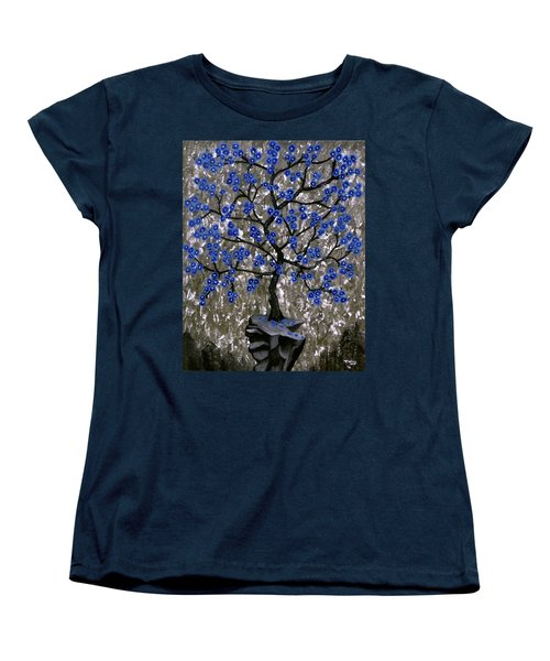 Winter Blues Women's T-Shirt (Standard Cut) by Teresa Wing