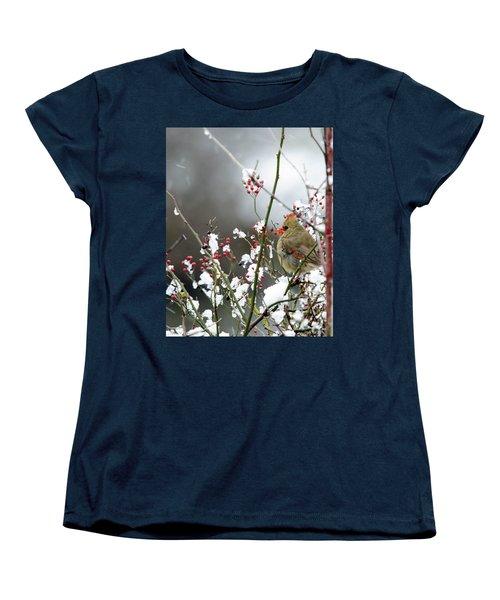 Winter Cardinal Women's T-Shirt (Standard Cut) by Gary Wightman