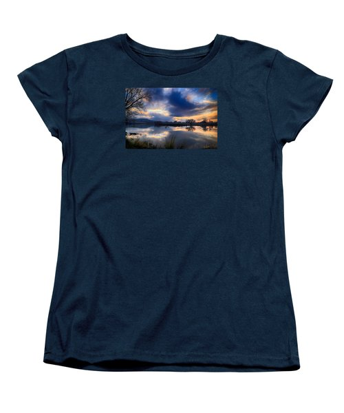 Winter Colors At Sunset Women's T-Shirt (Standard Cut) by Lynn Hopwood