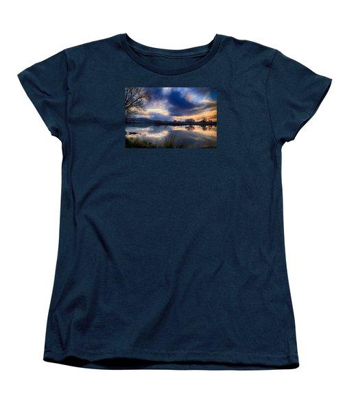 Winter Colors At Sunset Women's T-Shirt (Standard Cut)