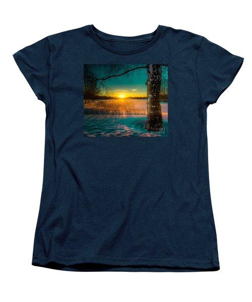 Winter Delight In British Columbia Women's T-Shirt (Standard Cut) by Rod Jellison