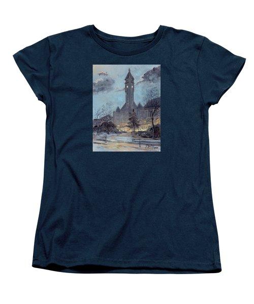Winter Dusk - Union Station Women's T-Shirt (Standard Cut)