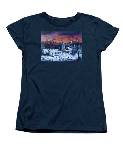 Winter Evening 2 Women's T-Shirt (Standard Cut) by Bozena Zajaczkowska