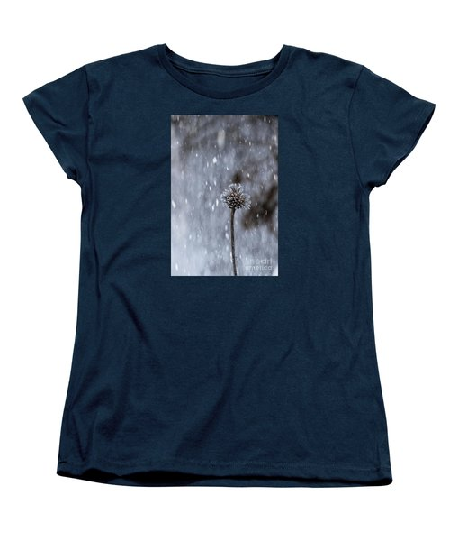 Winter Flower Women's T-Shirt (Standard Cut) by Yumi Johnson