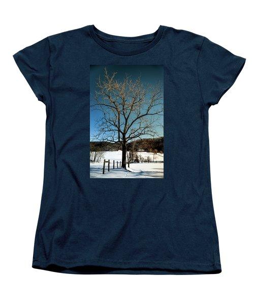 Women's T-Shirt (Standard Cut) featuring the photograph Winter Glow by Karen Wiles