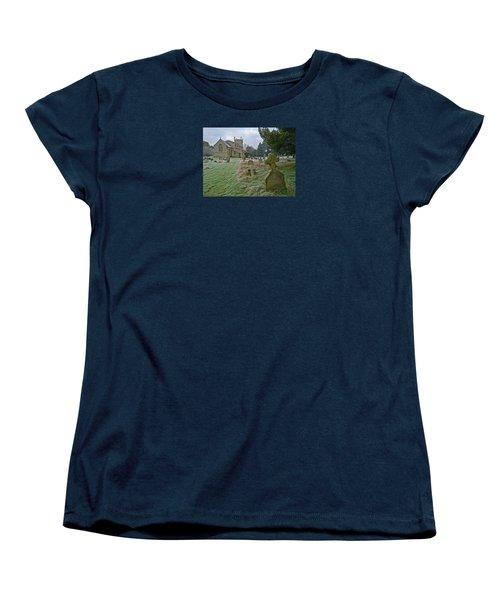 Winter Graveyard Women's T-Shirt (Standard Cut) by Anne Kotan