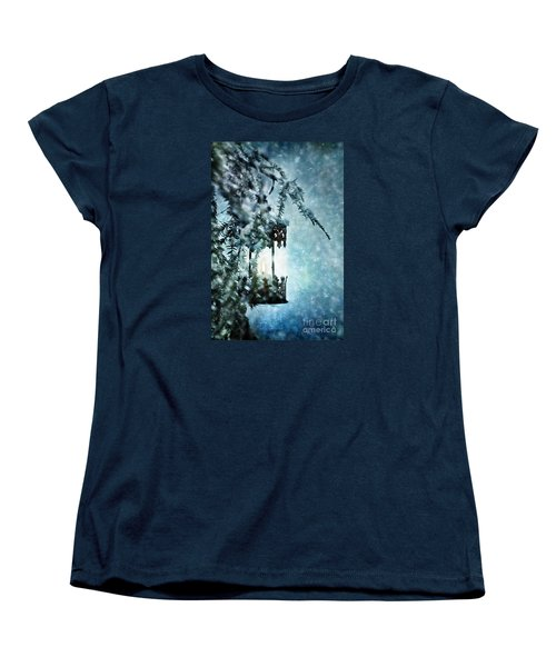 Winter Lantern Women's T-Shirt (Standard Cut) by Stephanie Frey