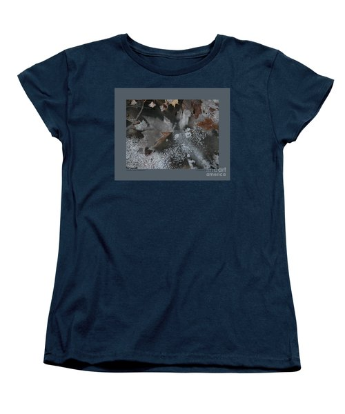 Women's T-Shirt (Standard Cut) featuring the photograph Winter Leaf Abstract-ii by Patricia Overmoyer