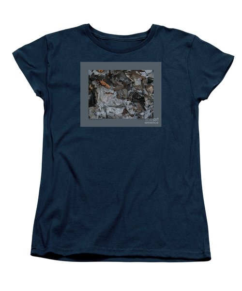 Women's T-Shirt (Standard Cut) featuring the photograph Winter Leaf Abstract-iii by Patricia Overmoyer