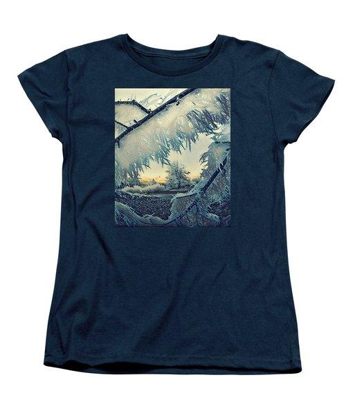 Winter Magic Women's T-Shirt (Standard Cut) by Colette V Hera Guggenheim