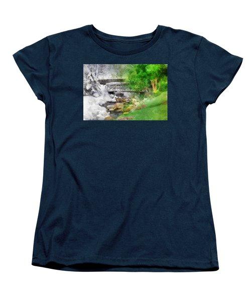 Winter Melt To Spring Women's T-Shirt (Standard Cut) by Francesa Miller