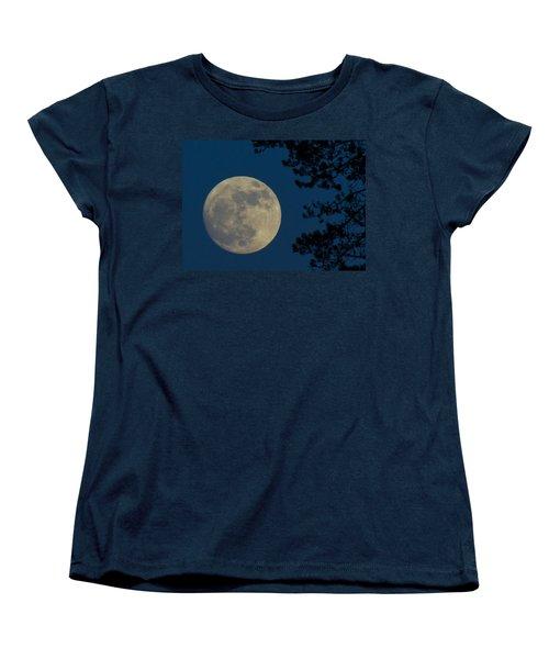 Winter Moon Women's T-Shirt (Standard Cut) by Randy Hall